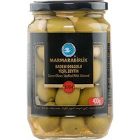 Marmarabirlik green olives with almond 720 g