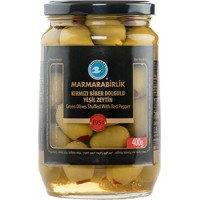 Marmarabirlik Green Olives (with Red Pepper) 700g