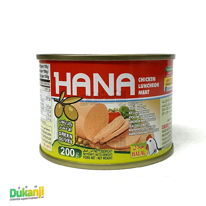 Hana luncheon meat chicken with olives 200g