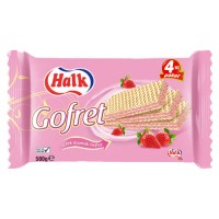 Halk Wafer Strawberry Cream 500 g