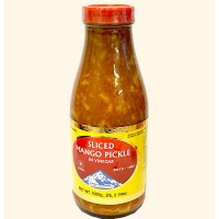 Himalaya sliced mango pickle in vinegar hot 450g