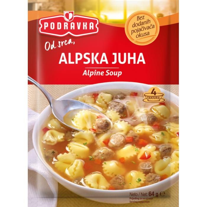 Podravka alpisk meat soup 67g
