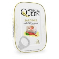 Adriatic Queen Sardines in vegetable oil with chili pepper 105g