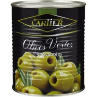 Cartier Green Pitted Olives 850g