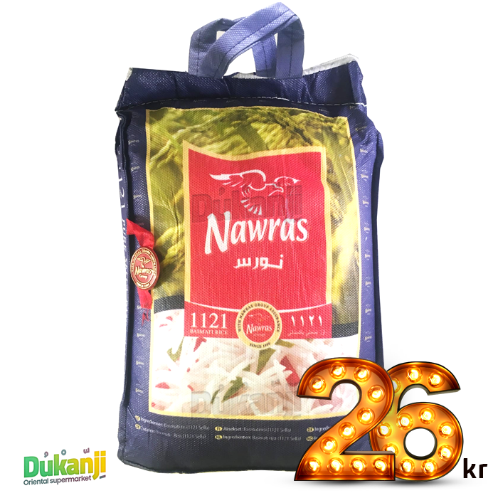 Nawras indian 1121 basmati rice 900g