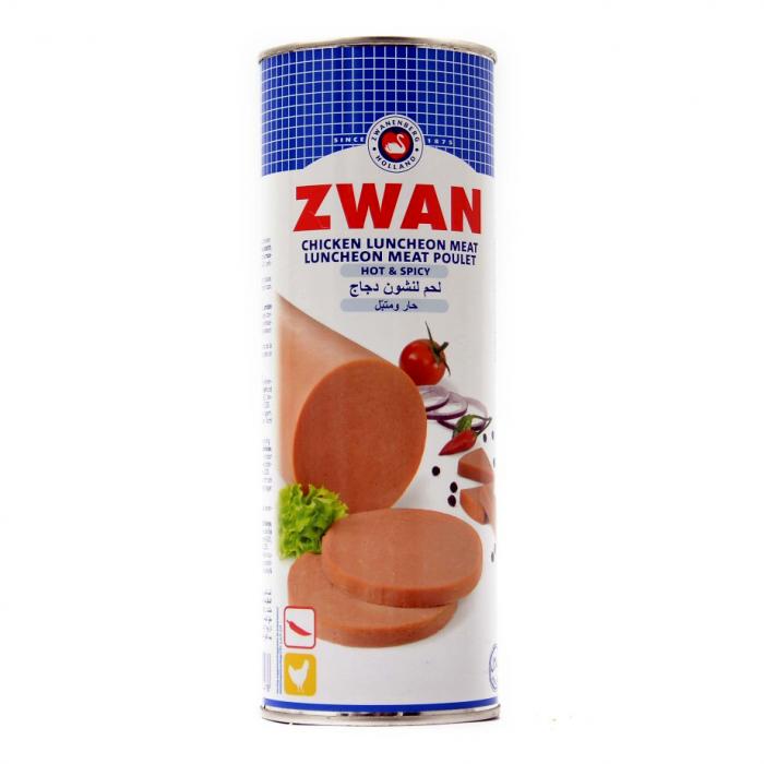 Zwan Chicken luncheon meat Hot & Spicy 850g