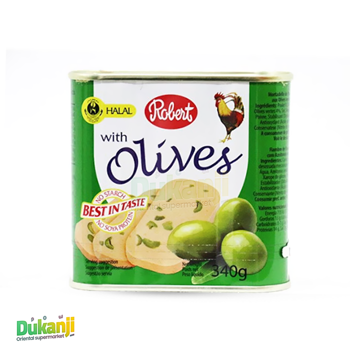 ROBERT CHICKEN LUNCHEON MEAT WITH OLIVES 340G