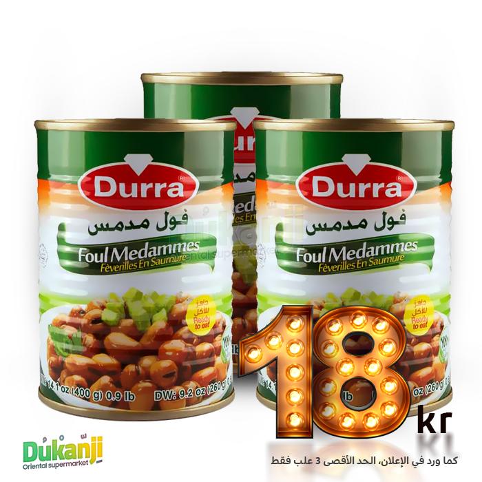 Durra Foul Mdammas 3x 400g