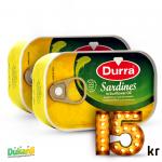 Durra Sardines in vegetable oil 125g x2