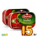 Durra Sardines with chili pepper 125g x2