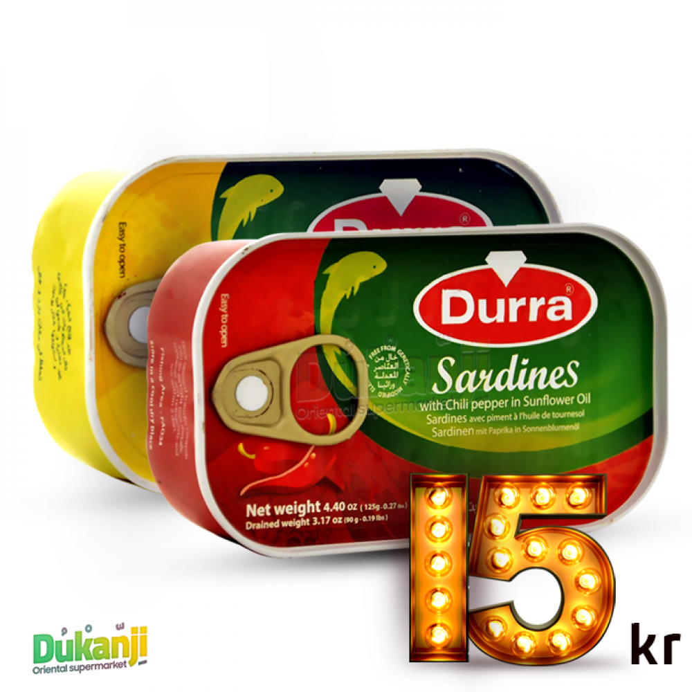 Durra Sardines 2 Packs Oil+Chili Pepper 125g