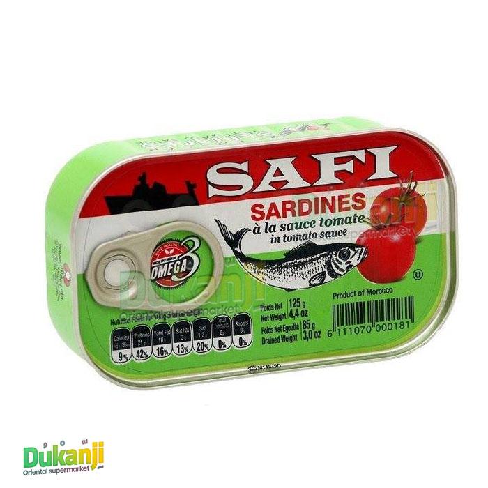 SAFI SARDINES WITH TOMATO SAUCE 125G