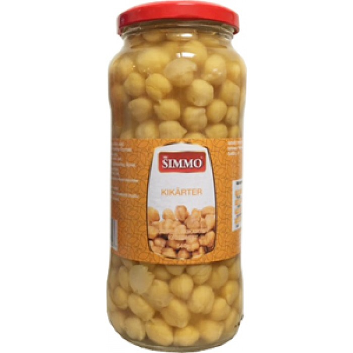 SIMMO Cooked Chickpeas Glass 540g