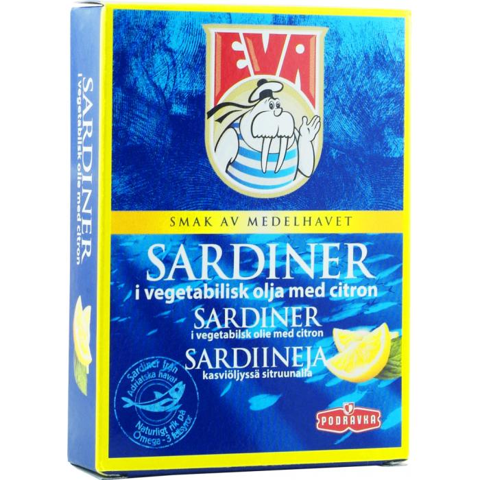 Eva Sardines in Vegetable Oil with Lemon 115 g